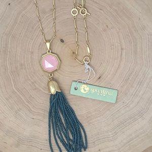 Bellflower Tassel Necklace
